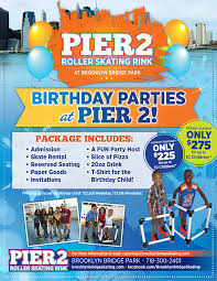 kids birthday parties at brooklyn bridge park pier 2 roller