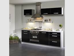 meuble de cuisine noir meuble cuisine intégrée pas cher maison et mobilier d intérieur