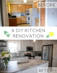 Kitchen Remodel Before After by Before And After Diy Kitchen Renovation Lemon Thistle