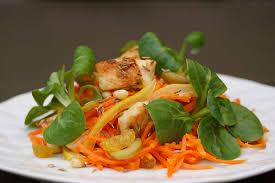 cuisine salade salade orientale de carottes au citron confit et poulet au cumin