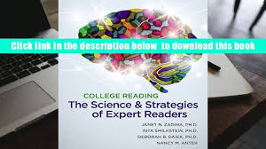 read college reading the science and strategies of expert readers