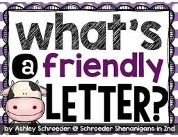 this freebie for teaching about the 5 parts of a friendly letter