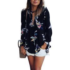 sleeve chiffon blouse nlife floral print sleeve chiffon shirt blouse tops