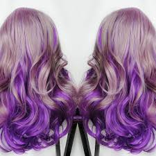 purple hair extensions pink to purple mermaid colorful ombre indian remy clip in hair