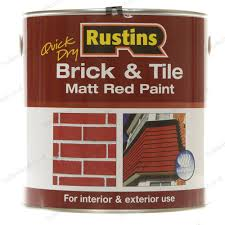 rustins 2 5l quick drying brick and tile red matt paint