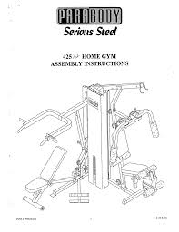 parabody home gyms 425 pdf user u0027s manual free download u0026 preview