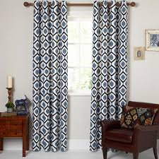 Navy Patterned Curtains Best Navy And White Patterned Curtains 2018 Curtain Ideas