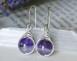 amethyst earrings amethyst earrings etsy