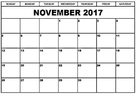 november 2017 calendar thanksgiving free design and templates