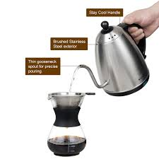 espresso maker electric secura 1 2 liter stainless steel gooseneck electric water kettle