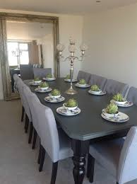 10 Seater Dining Table And Chairs 8 10 Seater Large Dining Table High Gloss Black Painted Top
