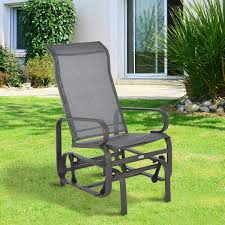Garden Chair Swing Patio Porch Glider Bench Swing Sling Chair Rocker Mesh Outdoor