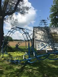 roller coaster for backyard blue flash backyard roller coaster bruceville indiana atlas