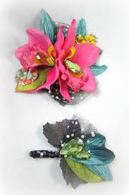 orchid wrist corsage retro orchid flower prom wrist corsage and boutonniere set