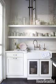 diy cabin kitchen open shelves 41 jpg to open kitchen shelving