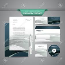 Business Letterhead Design Vector Complete Set Of Business Stationery Template Such As Letterhead