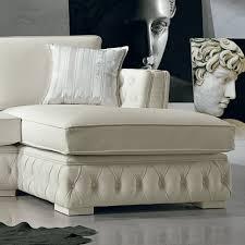 canapé blanc d angle canapé d angle italien en cuir blanc de style classique teseo