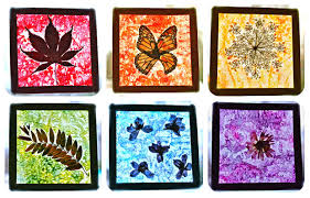 Kids Stained Glass Craft - nature craft for kids rainbow stained glass suncatchers play