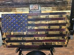 wooden american flag wall the heritage flag company bourbon whiskey barrel wood american