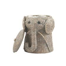 bedroom unique large jute baby nursery rattan cute elephant
