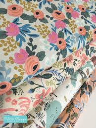 rifle paper co fabric sale canvas linen fabric cotton and steel