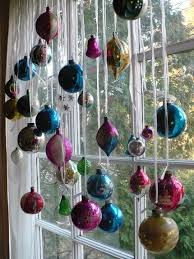 hang ornaments with ribbon the curtain rod for a