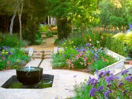 wonderful garden with fountain 14 water fountain amidst flower