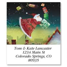 a gift from santa select return address labels colorful images