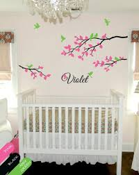 Monogram Wall Decals For Nursery Personalized Wall Decal Branch Nursery Monogram Mural Sticker