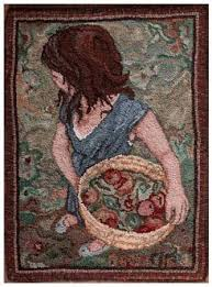 Wool Hand Hooked Rugs 215 Best Hooked Rugs People Figures Faces Images On Pinterest