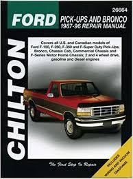 car repair manuals download 1996 ford e series free book repair manuals chilton s ford pick ups and bronco 1987 96 repair manual chilton s