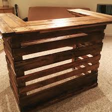 decor diy u shaped reclaimed wood pallet bar for traditional home