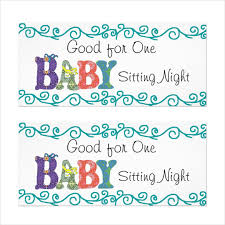 10 baby sitting coupon templates u2013 free sample example format