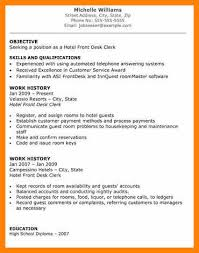 Hotel Front Desk Resume Examples 11 Hotel Resume Example Boy Friend Letters