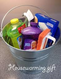 house warming wedding gift idea housewarming or wedding gift idea fill a cleaning bucket with your