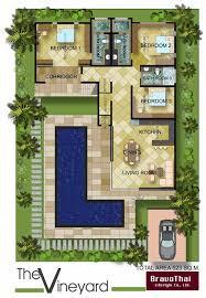u shaped courtyard house plans plan tr8576ms old world european