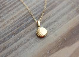 round locket necklace images Gold etched circle locket necklace simply sweet studio jpg