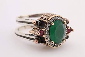 ruby emerald rings images Turkish handmade reversible oval cut ruby emerald jade jpg