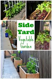 side yard vegetable garden small space solutions diy planter