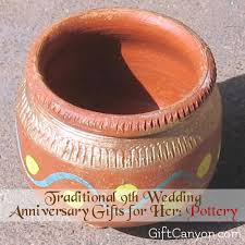 anniversary gifts for 9th year pottery wedding anniversary gifts for gift
