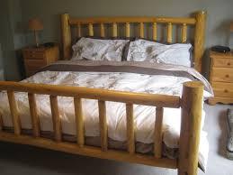Log Bedroom Furniture Bed Frame Canopy Log Bed Frame Bed Frames