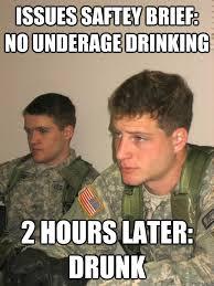 Underage Drinking Meme - rotc studs memes quickmeme