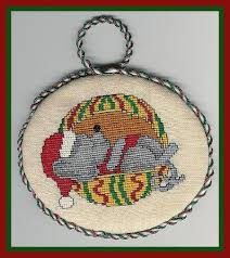 veeandco mouse tails ornaments cross stitch pattern 123stitch