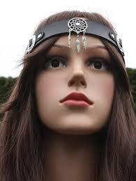 hippie headband handmade hippie headband black leather dreamcatcher hippy