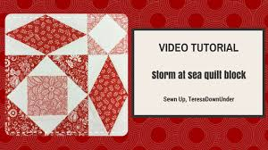 video tutorial quick and easy storm at sea quilt block youtube