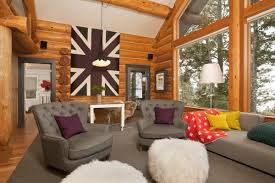 home design log cabin interior ideas how to choose designs with