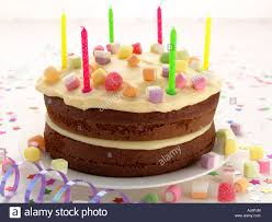 children s birthday cakes childrens birthday cake with candles stock photo 14640187 alamy