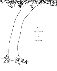 the giving tree quotes quotesgram coloring page of a tree trunk in