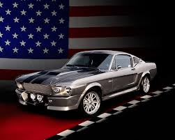 1967 Mustang Black 1967 Ford Mustang Shelby Gt500m Fastback Silver With Black Stripes