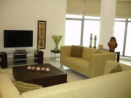 appealing small living room furniture with dark brown sofa triple